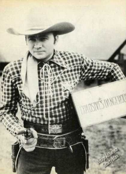 Magazine Print Feature Old Tex Ritter Photo (1984)