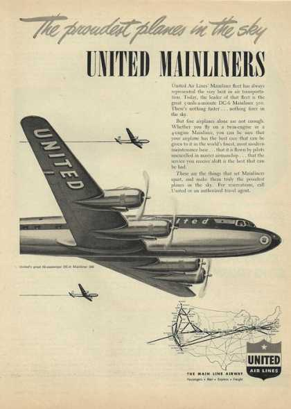 United Mainliners Airplane (1948)
