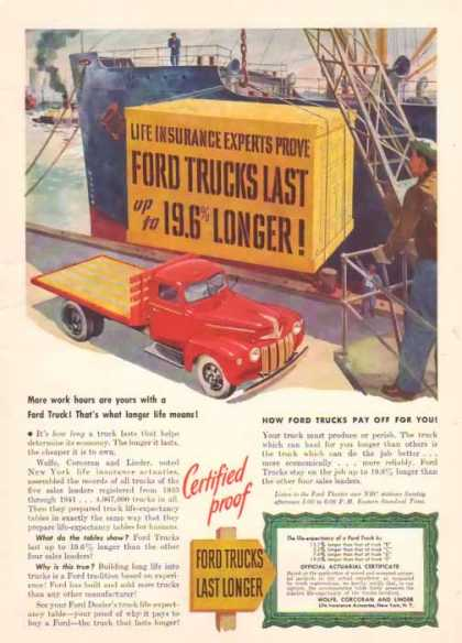 Ford Trucks – Life Insurance Experts… – Sold (1947)