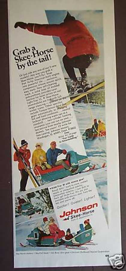 Johnson Skee-horse Snowmobile Photo (1968)