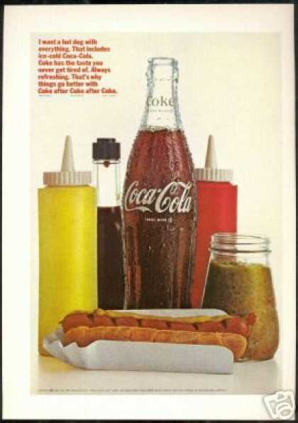 Coca Cola Bottle Hot Dog Relish Coke (1966)