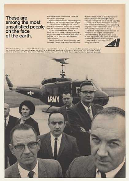 US Army Bell Huey Helicopter Engineers Avco (1966)