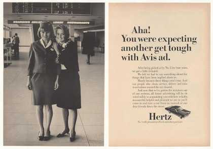Hertz Avis Rent a Car Girls Photo (1967)