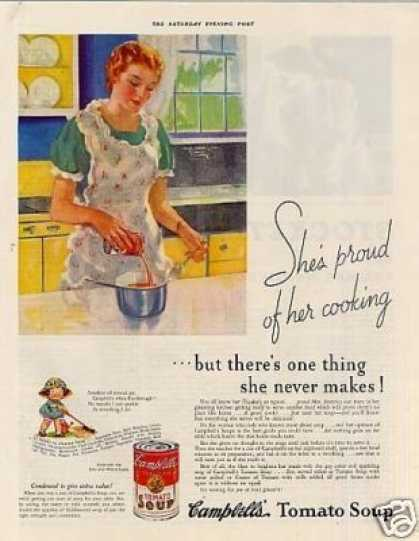 "Campbell's Tomato Soup Ad ""She's Proud... (1935)"