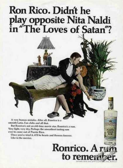 "Ronrico Rum ""The Loves of Satan"" (1967)"
