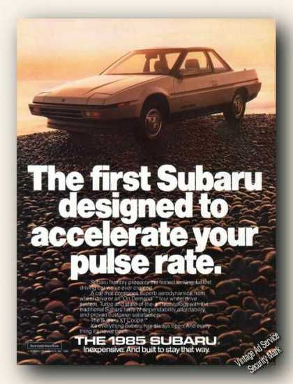 First Subaru Designed To Accelerate Your Pulse (1985)