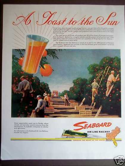 Seaboard Air Line Railway Florida Oranges (1946)