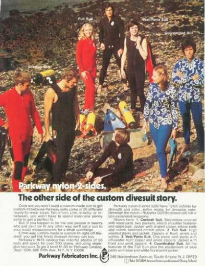 Parkway Scuba Diver Men Women Wet Suit (1973)