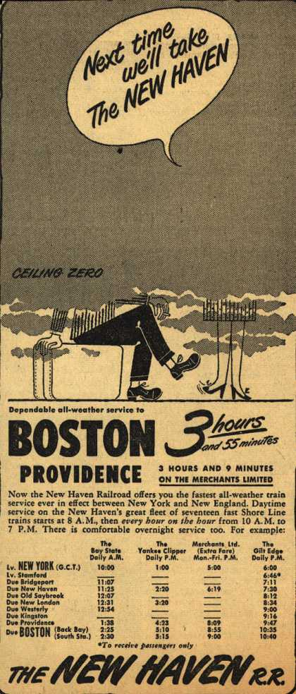 New Haven Railroad's Boston – Next time we'll take The New Haven (1949)