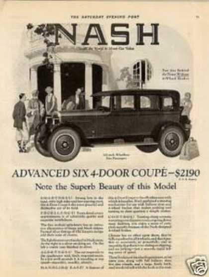 Nash Advanced Six 4-door Coupe (1925)