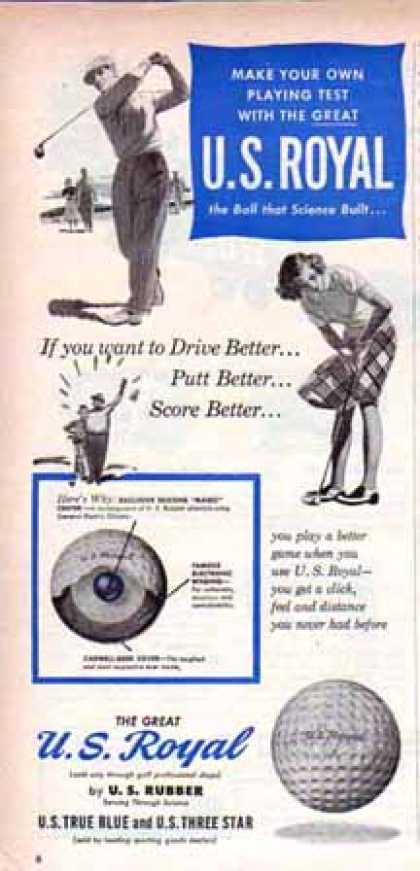 U.S. Royal Golf Ball – Want to Drive? (1949)