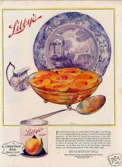 Libby's Peaches Color (1923)