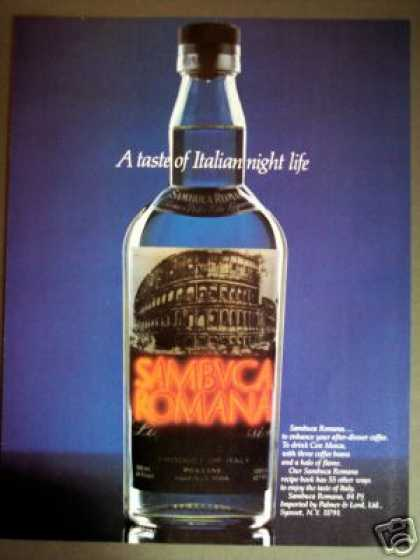 Sambuca Romana Bar Art (1985)
