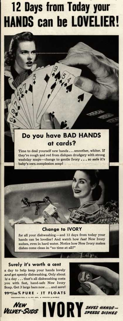 Procter & Gamble Co.'s Ivory Soap – 12 Days from Today your Hands can be Lovelier (1942)