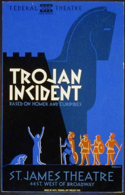 "Federal Theatre presents ""Trojan incident"" – Based on Homer and Euripides / Burroughs. (1936)"