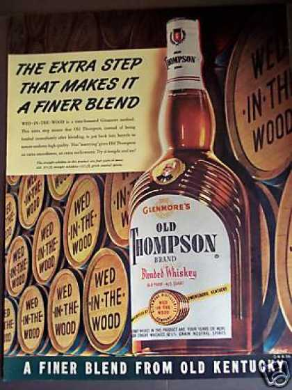 Whiskey Barrel Art Old Thompson Wed In the Wood (1951)