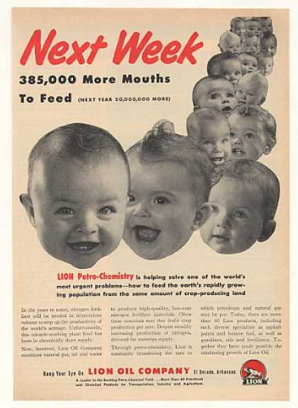 Lion Oil Petro-Chemistry Fertilizer Feed Babies (1952)