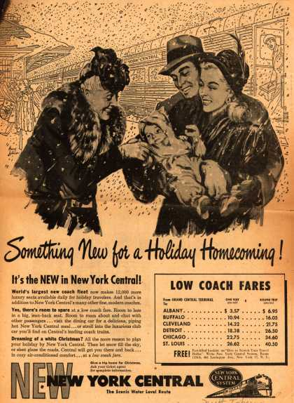 New York Central System – Something New for a Holiday Homecoming (1947)