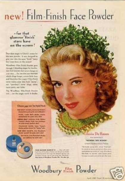 Woodbury Makeup Ad Gloria De Haven (1945)