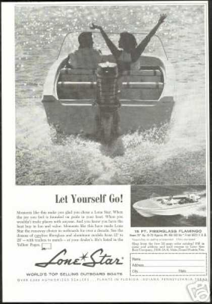 Lone Star Outboard Boat 15 Ft Flamingo (1960)