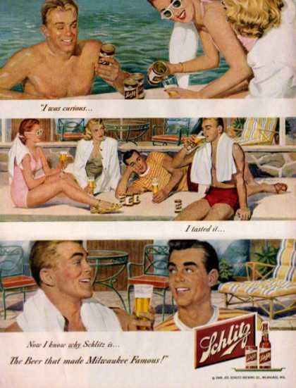 Schlitz Beer Around the Pool (1949)