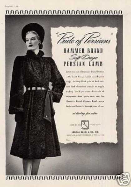 Herman Basch Persian Lamb Coat (1941)