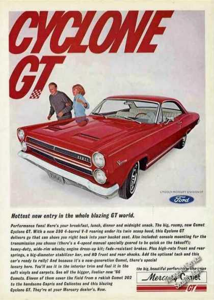 Red Mercury Comet Cyclone Gt Car (1966)