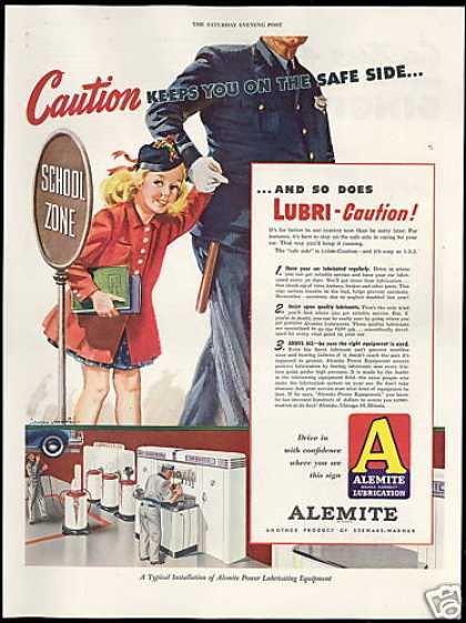 Alemite Lubrication School Girl Policeman (1946)