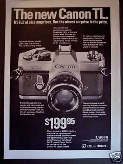 Canon Tl 35mm Slr Camera (1968)