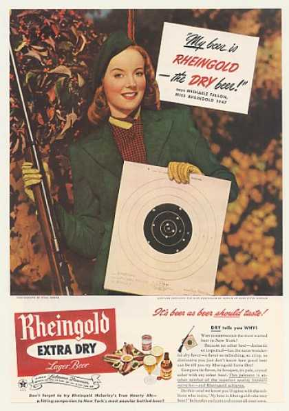 '47 Michaele Fallon Miss Rheingold Beer Target Shoot (1947)