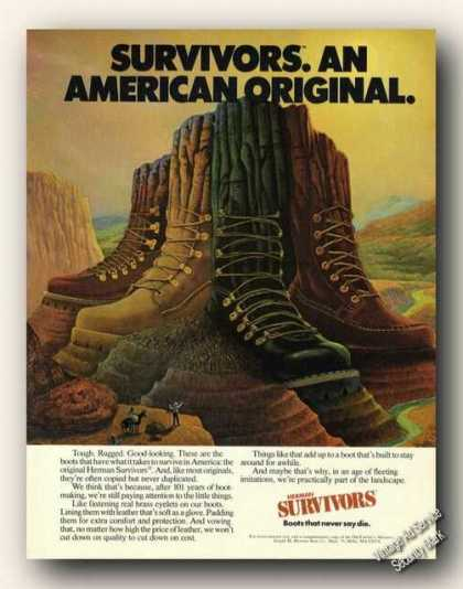 Herman Survivors an American Original Ad Art (1979)