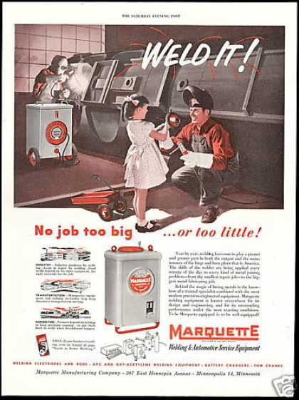 Marquette Welding Equipment Girl Red Wagon (1952)
