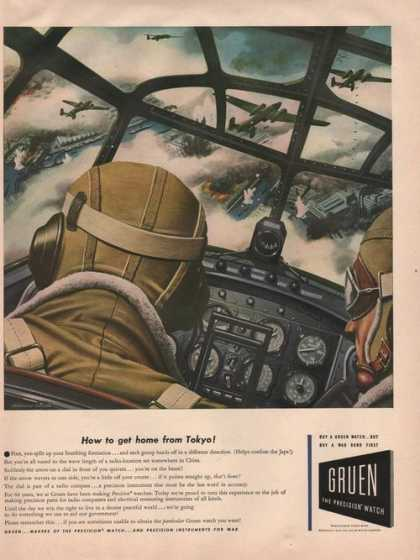 Gruen Precision Watch Airplanes (1942)