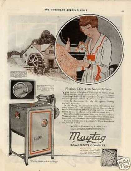 Maytag Cabinet Electric Washer Color (1920)
