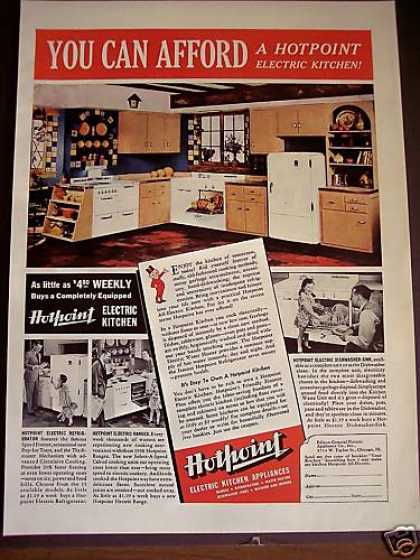 Hotpoint Electric Kitchen Appliances 30's Decor (1938)