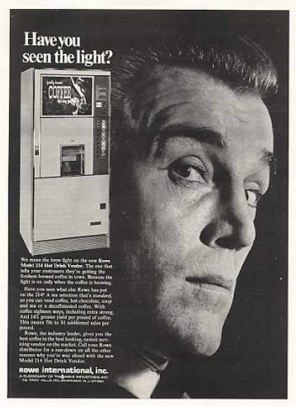 Rowe Model 214 Hot Drink Vending Machine Trade (1968)