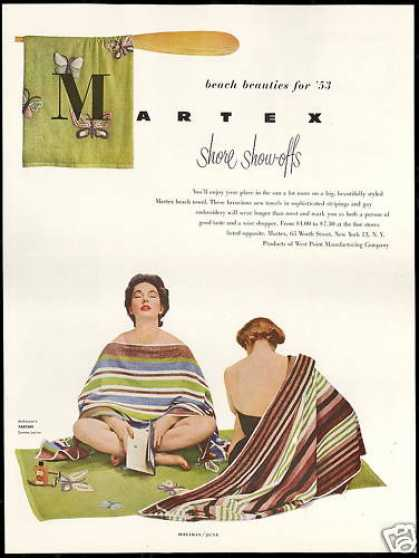 Martex Fashion Beach Towels Show Offs (1953)