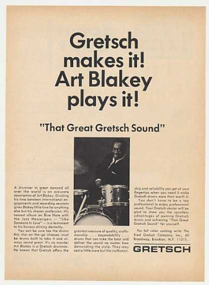 Art Blakey Gretsch Drums Photo (1968)