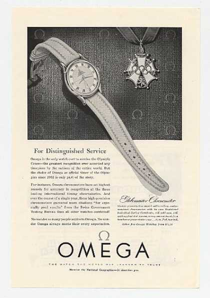 Omega Globemaster Watch Olympic Cross (1954)