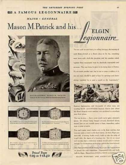 Elgin Legionnaire Watches (1929)