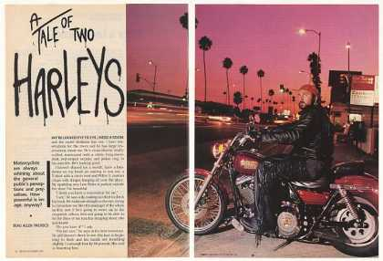 Harley-Davidson FXLR and FLHTP Police 7-Pg Article (1987)