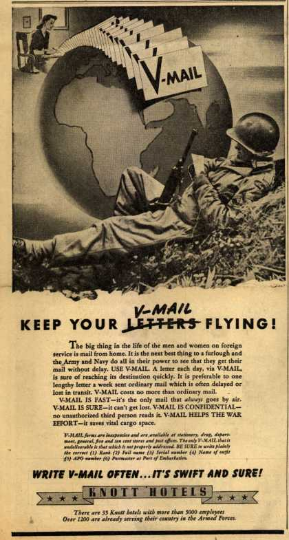 Knott Hotel's V-Mail – Keep Your V-Mail Flying (1944)