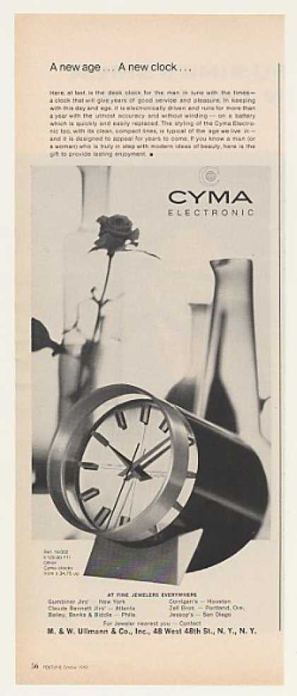 Cyma Electronic Desk Clock (1963)