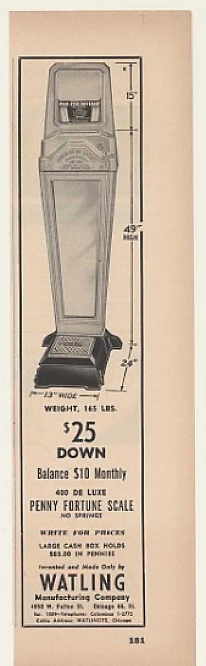 Watling 400 De Luxe Penny Fortune Scale Trade (1952)