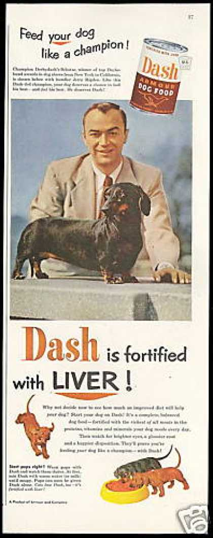 Champion Dachshund Schatze Dash Dog Food (1952)