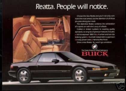 Black Buick Reatta Photo Vintage Car (1989)