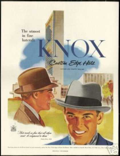Knox Custom Edge Mens Hat Vintage (1954)