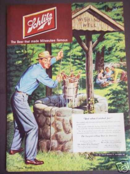 Dave Mink Art Original Schlitz Beer (1951)