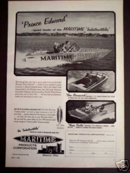 Maritime Prince Edward Indestructible Boat (1966)