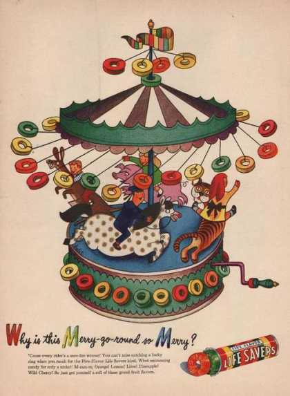 Merry Go Round Life Savers Five Flavor (1946)